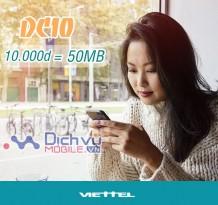 Gói 3G giá rẻ cho sim Dcom DC10 Viettel