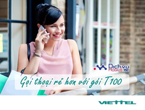Gọi thoại siêu rẻ không lo hết tiền với gói T100 Viettel