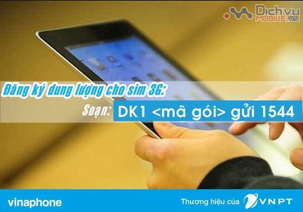 Hướng dẫn đăng ký dung lượng data cho sim 3G Vinaphone