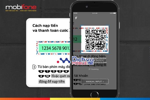 Nạp tiền kiểu mới bằng QR Code với ứng dụng Mobifone Next