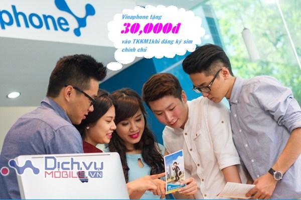 Nhận ngay 30,000đ vào tài khoản khi đăng ký sim chính chủ Vinaphone