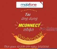 """Nhận voucher quà tặng hấp dẫn với CTKM """" Săn quà giờ vàng cùng mconnect"""" Mobifone"""