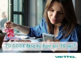Thoải mái sử dụng 3G Viettel chỉ 70k/tháng với các gói MiMax đặc biệt