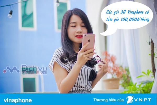 Trải nghiệm dịch vụ 3G Vinaphone với các gói 3G trong tầm giá 100k/tháng
