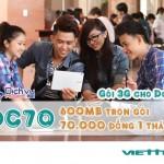 Đăng ký gói DC70 Viettel truy cập 3G không giới hạn trên Dcom