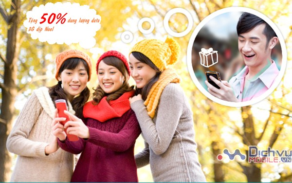 Viettel tặng 50% dung lượng 3G nhân dịp Noel 2016