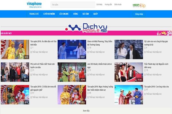 Đăng ký MegaClip Vinaphone xem hài thả ga dịp Tết