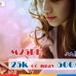 Đăng ký gói M25BK Mobifone dùng 3G siêu rẻ chỉ 25.000đ/tháng