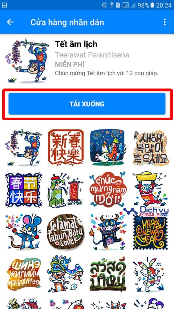 Hướng dẫn gửi lời chúc mừng năm mới 2017 trên Facebook bằng Sticker