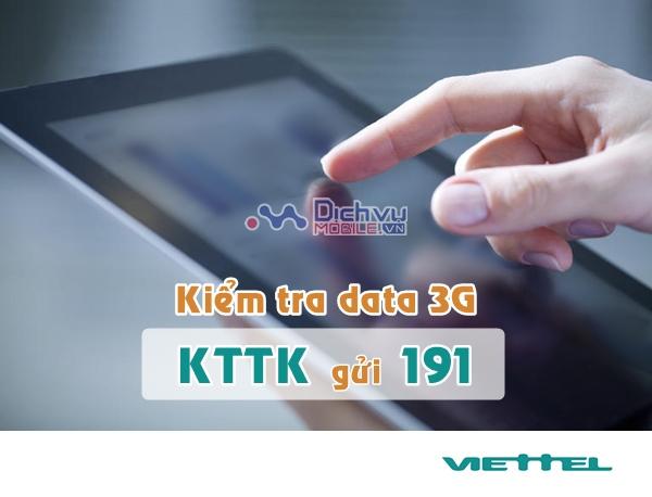 Làm thế nào để kiểm tra dung lượng gói 3G cho Dcom Viettel?