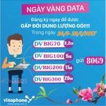 Vinaphone khuyến mãi ngày vàng data từ 24 đến hết ngày 25/1/2017