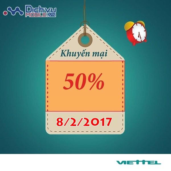 Khuyến mãi nạp thẻ Viettel