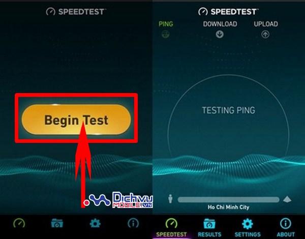 Cách đo nhanh tốc độ mạng 3G,4G Viettel trên điện thoại di động