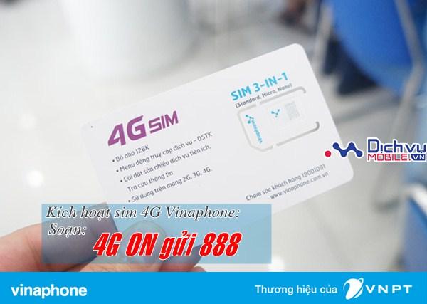 Cách kích hoạt sử dụng mạng 4G Vinaphone sau khi đổi sim thành công