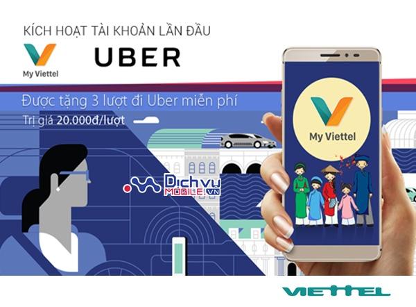 """Khuyến mãi tháng 2 """"Cài My Viettel - Đi Uber miễn phí"""""""