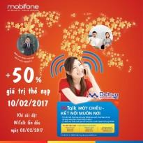 Mobifone khuyến mãi 50% giá trị thẻ nạp khi cài đặt Witalk