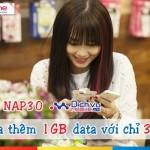 Cách mua thêm 1GB data 3G Mobifone chỉ 30.000đ với gói NAP30