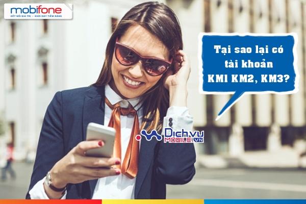 Tài khoản khuyến mãi KM1, KM2, KM3 của Mobifone là gì?