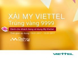 Trúng vàng 9999, xài data miễn phí khi cài My Viettel