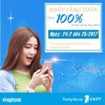 Vinaphone khuyến mãi 100% data 3G các gói Big từ ngày 24 – 25/2/2017