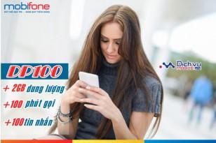 Đăng ký gói DP100 Mobifone nhận 2GB data và hàng trăm phút thoại, tin nhắn