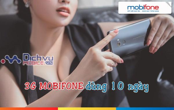 Hướng dẫn đăng ký các gói 3G dùng 10 ngày của Mobifone năm 2018