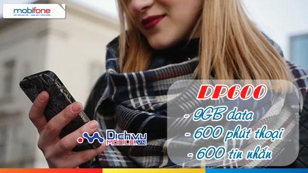 Đăng ký gói DP600 Mobifone nhận 9GB và hàng trăm phút thoại, sms