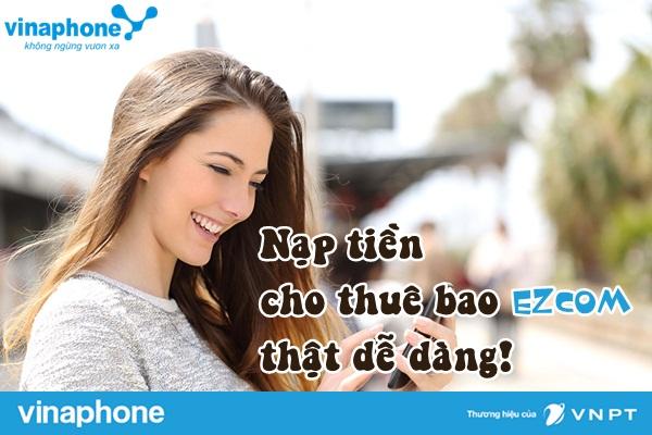 hinh thuc nap the cho thue bao ezcom vinaphone