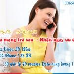 Khuyến mãi hòa mạng trả sau Mobifone tháng 3 và tháng 4 tại Hà Nội