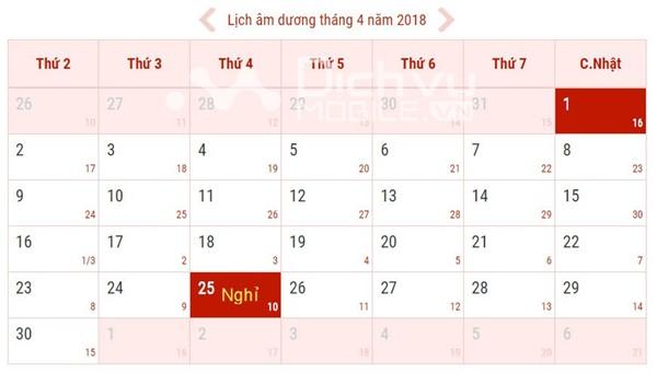Lịch nghỉ lễ giỗ tổ Hùng Vương 10/3/2018 là bao nhiêu ngày?