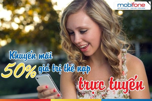 Khuyến mãi nạp tiền trực tuyến Mobifone
