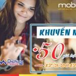 Khuyến mãi nạp thẻ Mobifone ngày 17/3/2017 tặng 50% mỗi thẻ nạp