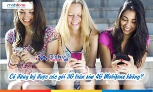 Sử dụng sim 4G Mobifone có đăng ký được các gói cước 3G hay không?