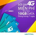 Hướng dẫn nhận 10GB data khi đổi sim 4G Viettel từ ngày 8/3/2017