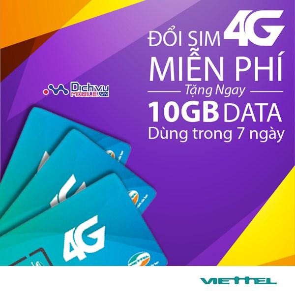 Viettel khuyến mãi tặng dung lượng tốc độ cao cho khách hàng khi đổi sim 4G