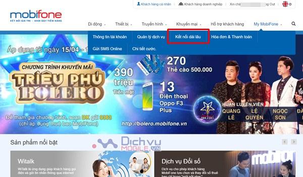 Hướng dẫn đăng ký kết nối dài lâu Mobifone cực đơn giản qua web Mobifone.vn