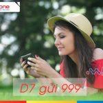 Đăng ký gói D7 của Mobifone dùng 3G chỉ 7000đ 1 ngày với 1,2GB