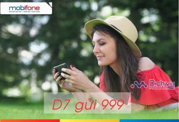 Đăng ký gói D7 Mobifone nhận 1,2GB data chỉ 70000đ/ ngày