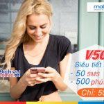 Đăng ký gói V50 Mobifone khuyến mãi 500 phút gọi thoại siêu khủng