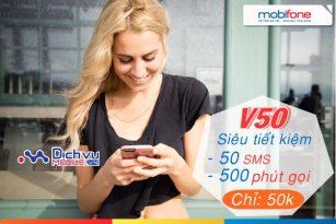 Mobifone khuyến mãi gọi thoại siêu khủng với gói V50