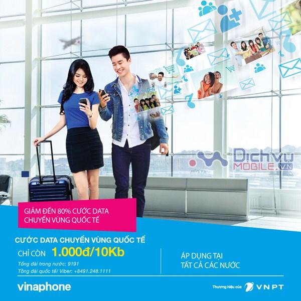 Vinaphone ưu đãi giảm đến 80% cước chuyển vùng quốc tế từ 1/5/2017