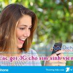 Các gói cước 3G khuyến mãi cho sim sinh viên Vinaphone năm 2017