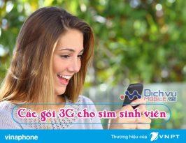 Các gói 3G khuyến mãi cho thuê bao sinh viên Vinaphone năm 2017