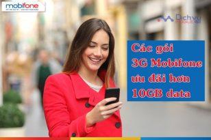 Những gói cước 3g Mobifone có dung lượng trên 10GB