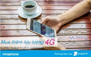 Cách mua thêm lưu lượng 4G tốc độ cao mạng Vinaphone mới nhất 2017