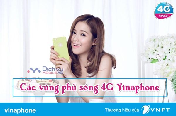 Cập nhật các vùng phủ sóng 4G Vinaphone mới nhất
