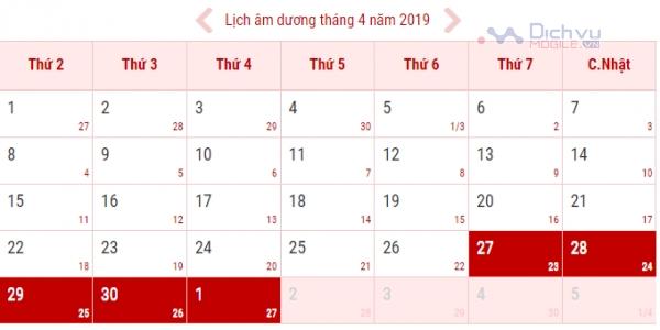 Lịch nghỉ lễ nghỉ lễ 30/4 và 1/5/2019 được nghỉ bao nhiêu ngày?