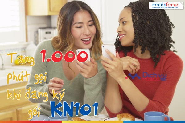 tang 1000 phut goi khi dang ky kn101 mobifone