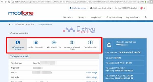 Hướng dẫn đăng ký tài khoản Mobifone Portal qua Web Mobifone.vn