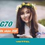 Đăng ký gói cước 4G70 Viettel nhận ngay ưu đãi 2GB data 4G tốc độ cao